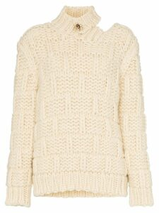 Calvin Klein 205W39nyc high neck cutout mohair wool blend jumper -