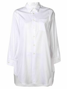 Comme Des Garçons long sleeve button-up blouse - White