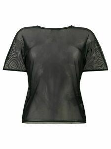 Y-3 mesh logo T-shirt - Black