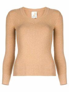 JoosTricot V-neck knit top - Brown