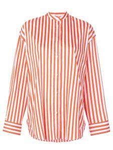 MSGM striped button shirt - Orange