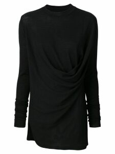 Rick Owens draped sweater - Black
