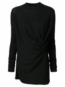Rick Owens draped sweater - Black