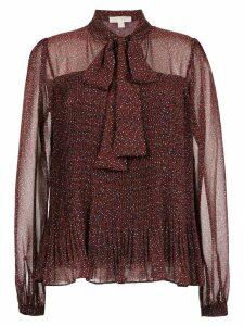 Michael Michael Kors Vine-print chiffon blouse - Red