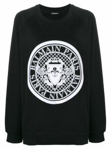 Balmain logo stamp sweatshirt - Black