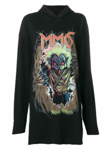 Mm6 Maison Margiela graphic print hoodie - Black