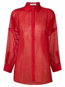 Poiret see-through shirt - Red