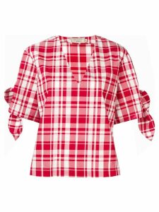 Maison Kitsuné checked blouse - Red