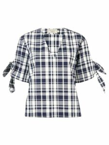 Maison Kitsuné checked blouse - Blue