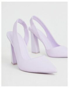 ASOS DESIGN Padlock slingback pointed high heels