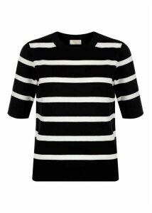 Paula Striped Sweater Black Ivory