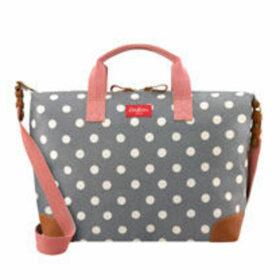 Button Spot Twill Travel Bag