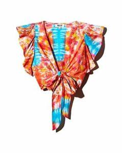 All Things Mochi Lana Tie-Dye Wrap Top