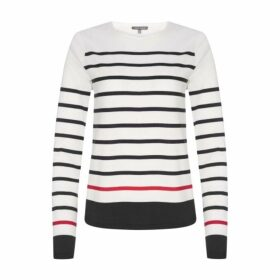 Red and Black Stripe Jersey Top