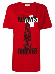 A.F.Vandevorst Always Forever T-shirt - Red
