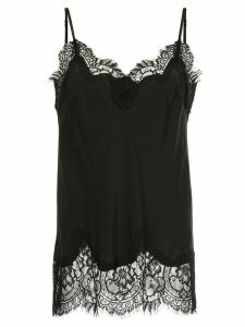 Gold Hawk lace insert top - Black