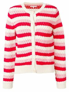 Chinti and Parker crochet-knitted cardigan - Red
