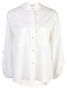 Vince band collar wide shirt - White