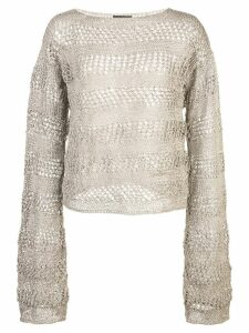 Voz Loose Knit Sweater - Grey