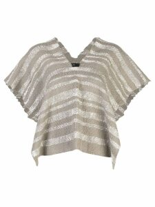 Voz Gradient knitted poncho - Grey
