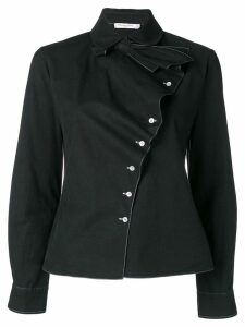 Christian Dior Pre-Owned off-centre buttoned shirt - Black