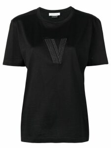 Versace Pre-Owned logo embroidered T-shirt - Black
