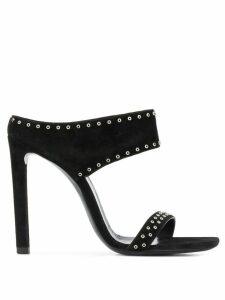 Saint Laurent eyelet sandals - Black