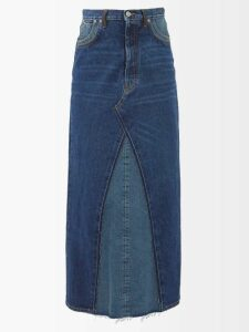 Osman - Sunny Asymmetric Tiered Cotton Blouse - Womens - White Stripe
