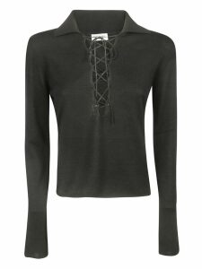 Saint Laurent Lace-up Blouse