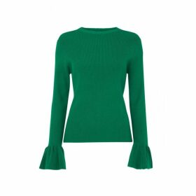 Kitri Vivien Green Rib Knit Jumper