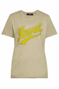 Steffen Schraut Hawaii Glam Printed Cotton T-Shirt with Crystals