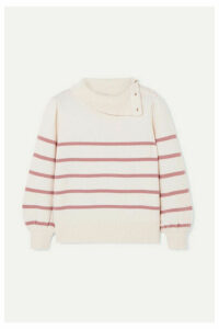 Co - Striped Wool And Cashmere-blend Sweater - Ivory