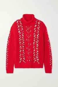 Brunello Cucinelli - Sequin-embellished Striped Cotton-blend Cardigan - Cream
