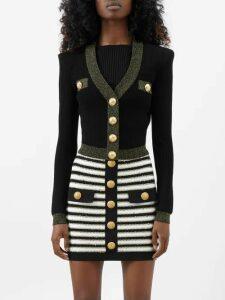 Marta Ferri - High-rise Silk-bourette Belted Maxi Skirt - Womens - Green