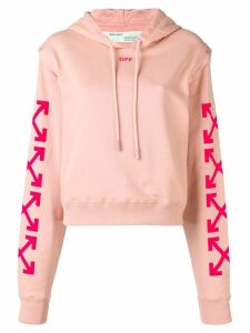 Off-White hooded sweatshirt - Pink