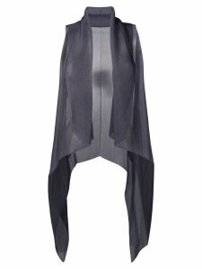 Emporio Armani sheer gilet top - Grey