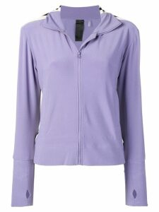 Norma Kamali side stripe turtle jacket - Purple