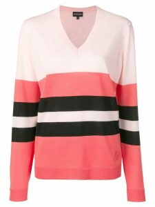 Emporio Armani striped detail sweater - Pink