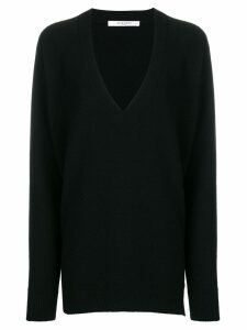 Givenchy oversized zip-side v-neck jumper - Black