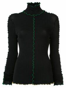 Proenza Schouler Long Sleeve Outlined Turtleneck - Black