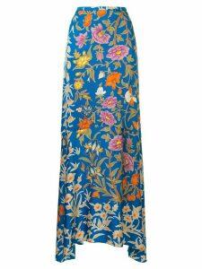 Peter Pilotto floral print maxi skirt - Blue