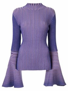 Solace London striped knit sweater - PURPLE