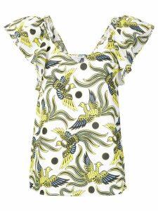 Kenzo bird print top - White