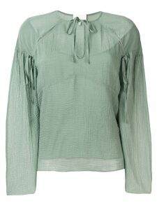3.1 Phillip Lim Cutout textured silk blouse - Green