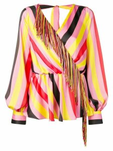 MSGM fringed blouse - PINK