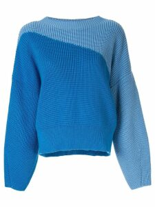 Anna October colour block jumper - Blue