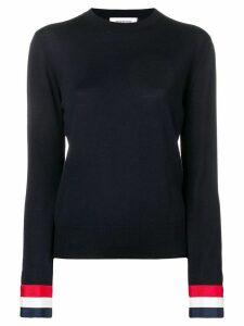Thom Browne contrast-cuff jumper - Black
