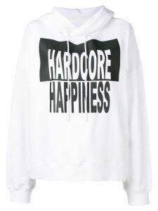 Maison Margiela Hardcore Happiness printed hoodie - White
