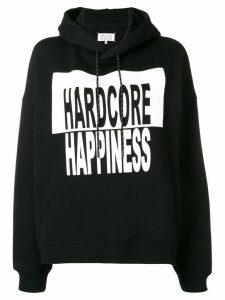 Maison Margiela Hardcore Happiness printed hoodie - Black