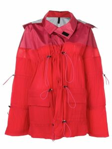 Unravel Project drawstring parka coat - Red